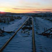 Winter Rails 1 Art Print