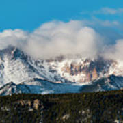Winter Receding On Pikes Peak Art Print