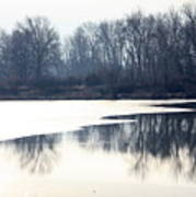 Winter Reflection On The Yakima River Art Print