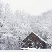 Winter Ride Snowy Pond Art Print
