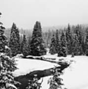 Winter Riverscape Art Print