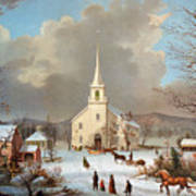 Winter Scene, C1875 Art Print