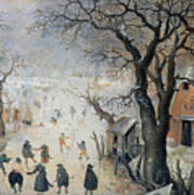 Winter Scene Print by Hendrik Avercamp
