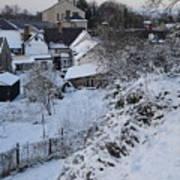 Winter Scene In North Wales Art Print
