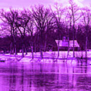Winter Scene In Violet Art Print