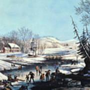 Winter Scene: Morning 1854 Art Print