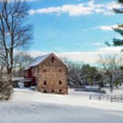 Winter Scene On A Pennsylvania Farm Art Print