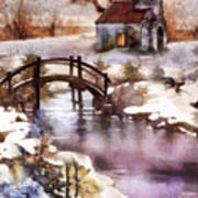 Winter Shelter Art Print