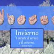 Winter Spanish Art Print
