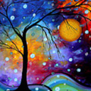 Winter Sparkle By Madart Art Print by Megan Duncanson