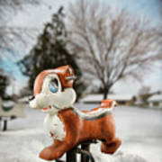 Winter Squirel Art Print