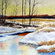 Winter Stream 1107 Art Print
