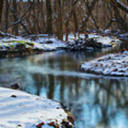 Winter Stream, Pa Art Print