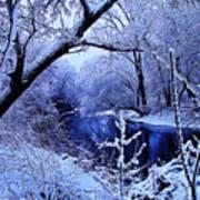 Winter Stream Art Print