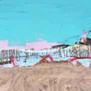 The Beach In Winter  Art Print