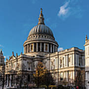 Winter Sun St Paul's Cathedral Art Print
