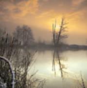 Winter Sunrise Art Print by Graham Clark