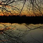 Winter Sunset Reflection Art Print