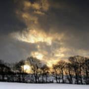 Winter Sunset, Trough Of Bowland, England Art Print