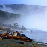 Winter Surf On Vancouver Island Art Print