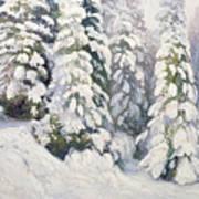 Winter Tale Art Print by Aleksandr Alekseevich Borisov