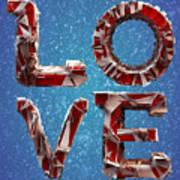 Winter Time Love Art Print