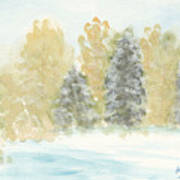 Winter Trees Art Print by Ken Powers