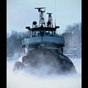 Winter Tug Art Print