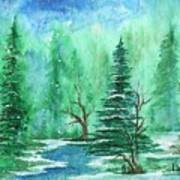 Winter Walk A  Art Print