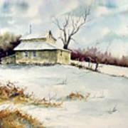 Winter Washday Art Print