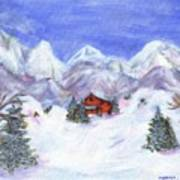 Winter Wonderland - Www.jennifer-d-art.com Art Print