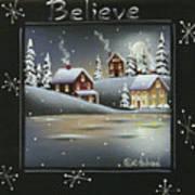 Winter Wonderland - Believe Art Print