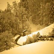 Winter Wonderland In Switzerland - Up The Hills Art Print