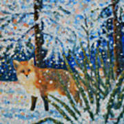 Winter Yucca / Red Fox Art Print