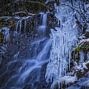 Winterfalls Art Print