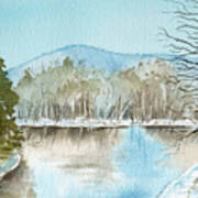 Winter's Daylight Chill  Art Print