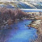 Winter's Edge, Flat Creek Jackson Art Print