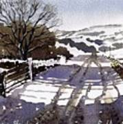 Winters Lane Stainland Art Print