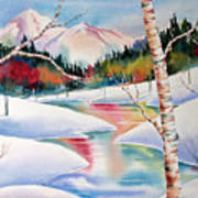 Winter's Light Art Print by Deborah Ronglien