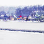 Wintertime At The Fairmount Dam And Boathouse Row Art Print