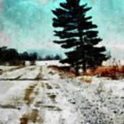 Wintry Altona Road Art Print