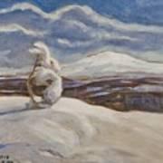 Wintry Landscape Art Print