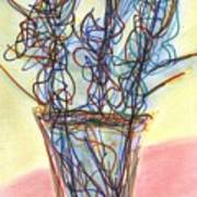 Wire Flowers Art Print