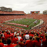 Wisconsin Badgers Play In Camp Randall Stadium Art Print by Relpay Photos