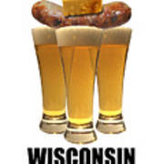 Wisconsin Food Pyramid Art Print