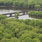 Wisconsin River Overlook 2 Art Print