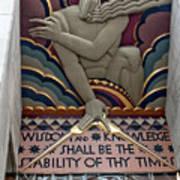 Wisdom Lords Over Rockefeller Center Art Print