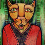 Wise Cat Art Print
