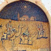 Wise Men Reaching Beit Sahour Art Print
