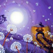 Wishes By A Stone Lantern Art Print